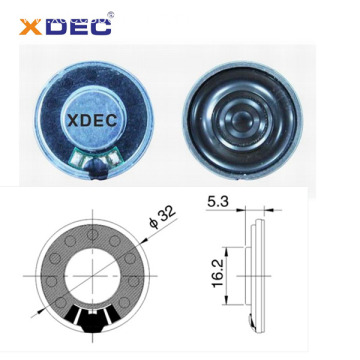 Mini thin 32mm 8ohm 0.25w 0.5w education machine speaker